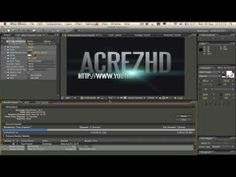 After Effects Tutorial: Basic Text & Knoll Light Factory Animation. Part 2. by AcrezHD - YouTube