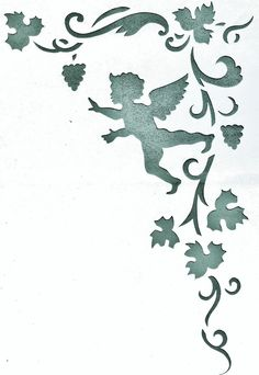 Wandschablonen Schablone Wandtattoo Ornament Engel in Möbel & Wohnen, Dekoration, Wandtattoos & Wandbilder | eBay