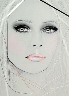 Neva 2  Fashion Illustration Portrait Art Print by by LeighViner