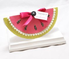 Watermelon Shaped Thank You Card by CardsandMoorebyTerri on Etsy, $4.75