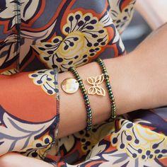 GREEN OPAL PEARL BRACELETS #bemylilou #jewelry #engraving #green #opalpearl #butterfly #spring