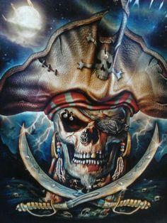Pirate Skull Tattoos, Pirate Tattoo, Pirate Art, Pirate Life, Pirate Ships, The Pirates, Pirates Of The Caribbean, Jack Sparrow Tattoos, Steampunk Animals