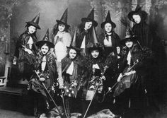 Old Photos of Women in Witch Costumes, circa 1800s.