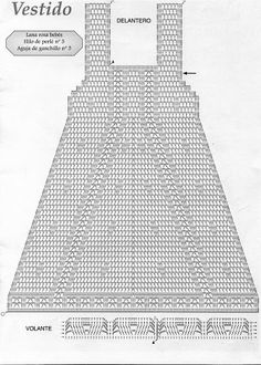 crochet diagram for a lovely baby gril dress!!