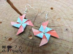 Origami for Everyone – From Beginner to Advanced – DIY Fan Paper Earrings, Diy Earrings, Earrings Handmade, Handmade Jewelry, Origami Jewelry, Paper Jewelry, Jewelry Crafts, Origami And Quilling, Origami Paper