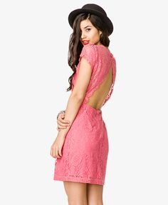 Open Back Lace Dress | FOREVER 21 - 2041242231