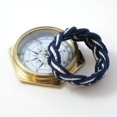 Nautical Bracelet Navy and White Sailor Knot
