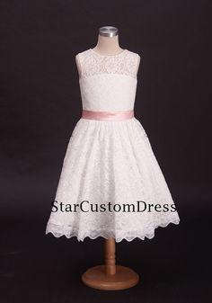 Hey, I found this really awesome Etsy listing at https://www.etsy.com/listing/197907006/ivory-lace-flower-girl-dress-with-pink