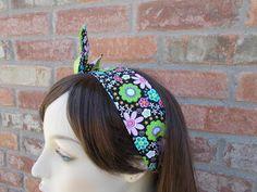 Dolly Bow Wire Headband Spring Headband with Colorful Flowers Floral Headband Summer Headband Tween Headband Teen Headband Women's Headband by foreverandrea on Etsy