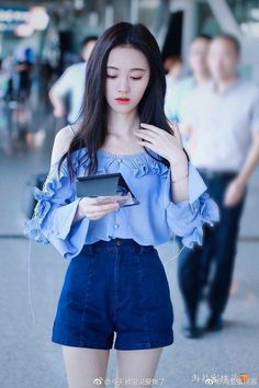 Kpop Fashion Outfits, Trendy Outfits, Girl Fashion, Girl Outfits, Fashion Design, Uzzlang Girl, China Girl, Beautiful Asian Girls, Girl Crushes