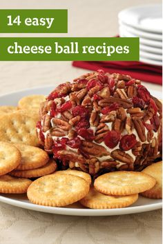 14 Easy Cheese Ball Recipes - Round, fun and tasty, cheese balls were born to party! They're also one of the easiest cold appetizers to prepare.