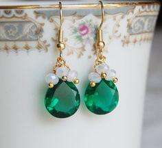 Emerald Earrings by CoolJewelCreations