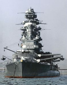 The Imperial Japanese Navy in the colors. The battleship Mutsu in Kagoshima's Bay in 1941   M