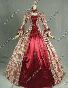 Georgian Victorian Gothic Dress Ball Gown Wedding Reenactment Cosplay