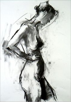 Life drawing - Richard Knight, really nice use of tones. Composition is well thought out too.: