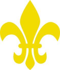 Yellow Fleur De Lis