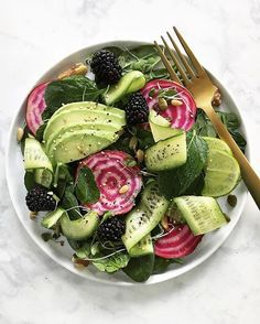 Avocado + Beet + Berry Salad. Real food is beautiful and a key step to vibrant health. If there's…