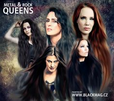 My new artwork with metal and rock queens. Love it. It's digital painting. full view on www.blackmag.cz or www.artwork.blackmag.cz Hope you like it.