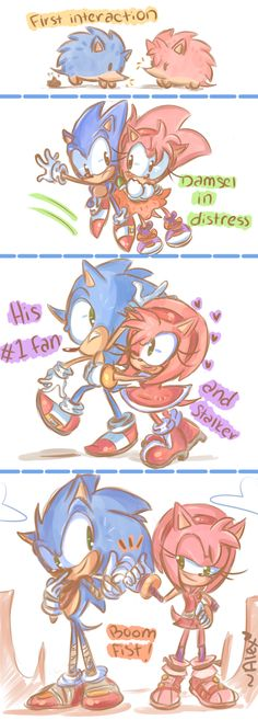 the evolution of Sonic and Amy by chibiirose.deviantart.com on @DeviantArt   IT'S SONEVOLUTION !!!!!