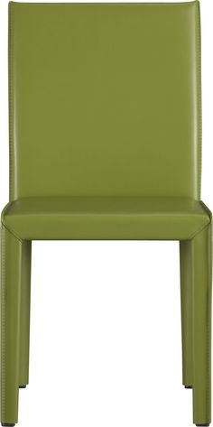 Folio Kiwi Leather Side Chair in Dining Chairs   Crate and Barrel (loving the plum)
