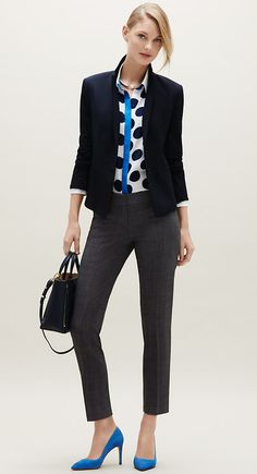 Add a pop of color to your winter wardrobe with bold cobalt l Ann Taylor