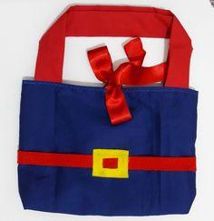 Sacolinha de tecido (100% algodão) da LUNA. Ideal para entregar como lembrancinha de aniversário, etc.. ** O valor é referente apenas a sacolinha vazia** # Opção para os meninos: Formato Mochilinha da LUNA#