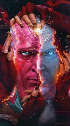 Vision Poster from Wanda Vision - iPhone Wallpapers