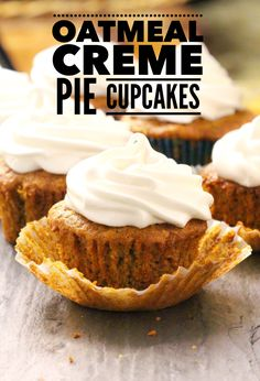 Oatmeal Creme Pie Cupcakes. - Layers of Happiness