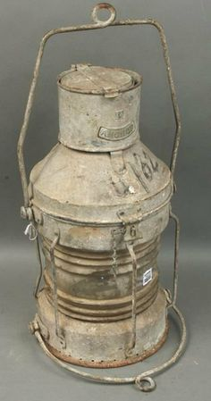 galvanized lanterns | 1308: Galvanized Ship's Anchor Lantern : Lot 1308