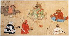 Poetry Contest, Zodiac Emaki (Hand Scroll), Edo Period.  Photo: Kyoto Nat'l Museum.