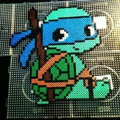 Ninja turtles - Leonardo, Perler beads