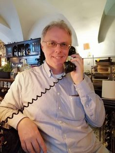 When have you seen a rotary phone the last time? I just did in a cafe in the center of Bielsko-Biała, Poland. Have You Seen, Rotary, Poland, Ruffle Blouse, Phone, Women, Fashion, Moda, Telephone