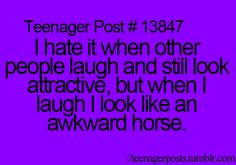 haha, awkward horse. not sure if I should pin this to my 'this is just me' board or not... is this me??