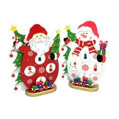 Venda quente do Ano Novo XMAS Gift 1 pc 25x17 cm Natal Decoração de mesa de madeira Boneco de neve de Natal/Santa noel com Enfeite de Natal Suprimentos em   de   no AliExpress.com | Alibaba Group