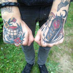 where we born and where we die - myself globe tattoo coffin&scythe tattoo