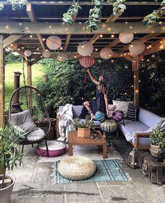 Small Backyard Patio, Backyard Patio Designs, Deck Patio, Patio Table, Backyard Ideas, Backyard Pools, Backyard Landscaping, Small Gazebo, Small Patio Design