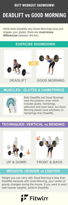 Barbell deadlift and good morning are two of the most effective glute and hamstrings exercises. If you are a barbell kind of girl, you'll enjoy this post.