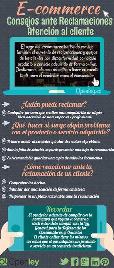 Consejos sobre reclamaciones en comercio electrónico #infografia #ecommerce #marketing