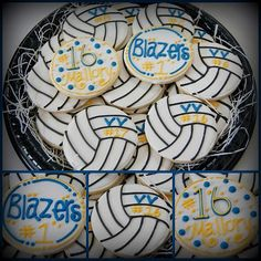 Volleyball cookies.
