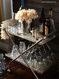 THRIFTED BAR CART Thrift Store Bar Cart | Trash to Treasure