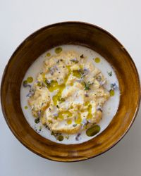 Daniel Patterson's Poached Scrambled Eggs with Goat Cheese Sauce // More Tasty Egg Dishes: http://fandw.me/42k #foodandwine
