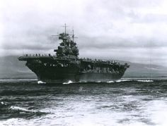 USS Enterprise (CV-6) in the Pacific, 1941 or 1942.