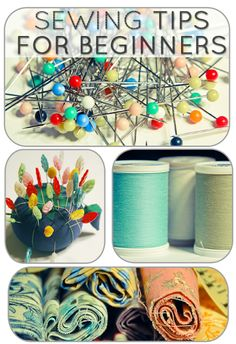 I really want to learn how to sew...I can't even sew a button back on!!   Sewing Tips for Beginners | From: coldhandswarmheartcrafts.com