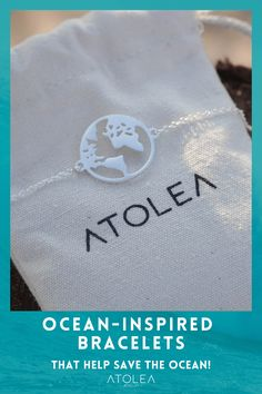 Perfect gift for travelers! Wear our silver world bracelet as you explore and discover the world. Discover more minimalist and ocean-themed jewelries at atoleajewelry.com Free shipping worldwide! Contribute in saving the ocean with each of your purchase.