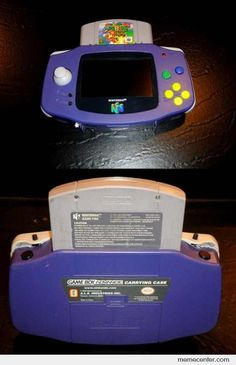Gameboy 64 - It combines a Gameboy Advance and a Nintendo 64!