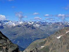 Alpine scenery above the Stubai Valley near Neustift, Tyrol, Austria