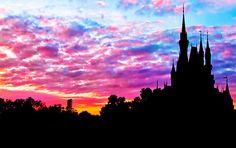 Sunrise over the Magic Kingdom at @Colleen Sweeney Sweeney Sweeney Sweeney Sweeney Egan Disney World.