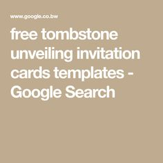 image result for free tombstone unveiling invitation cards templates taere terongo ngaata pinterest