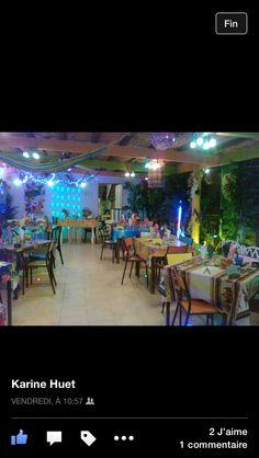 """Autre ambiance, autre décor!!!! Oui oui vous êtes en France en région Centre à Romorantin. Nous sommes sur la terrasse du restaurant La Créole ambiance """"Soirée exotique, Plats épicés du samedi soir"""" collé/serré comme on dit la bas Les Antilles sont venues à vous donc le voyage se fait avec l'ambiance et vos papilles. Bienvenue & bon voyage culinaire."""