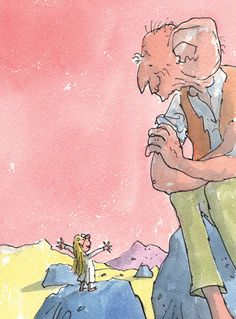 Roald Dahl - The BFG and Sophie by Quentin Blake